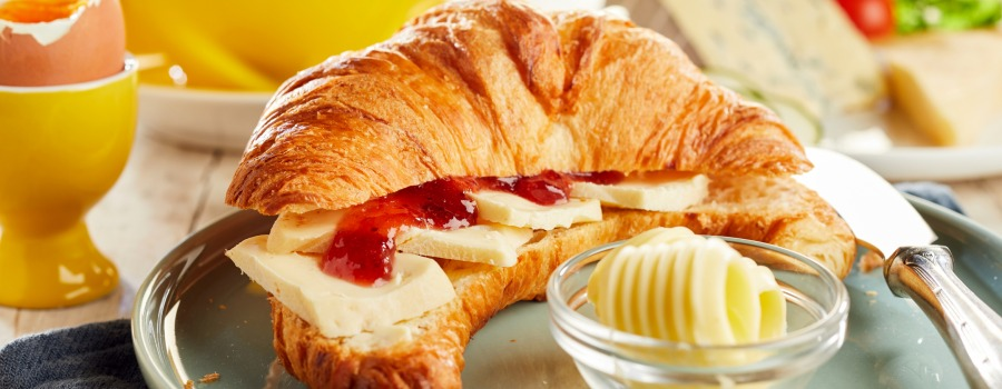 The best day starts with butter and croissant.